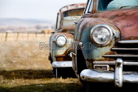 vintage cars abandoned in rural wyoming