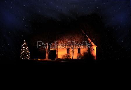 chapel by night