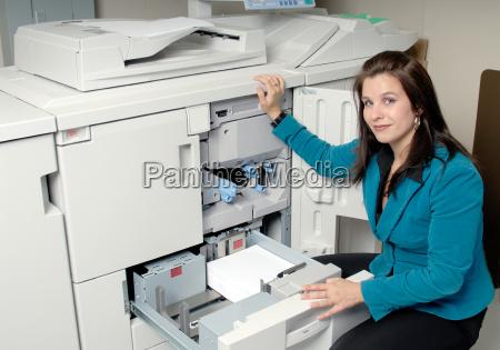 photocopy, machine, and, woman - 1272123