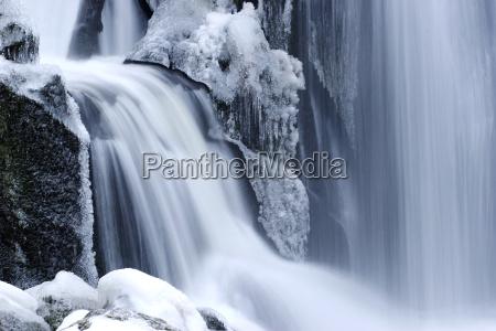 waterfall, in, winter - 1284483