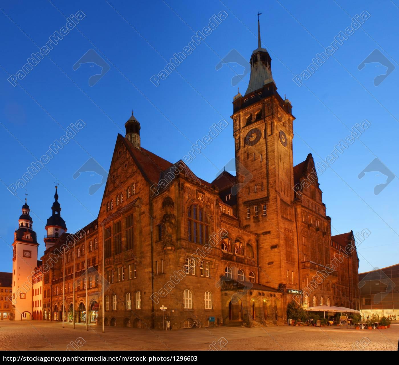 town, hall, chemnitz - 1296603