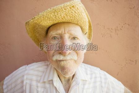 senior citizen man in a cowboy