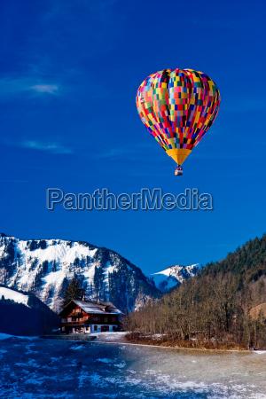 air, balloon, over, the, alps, vaud, switzerland - 1306263