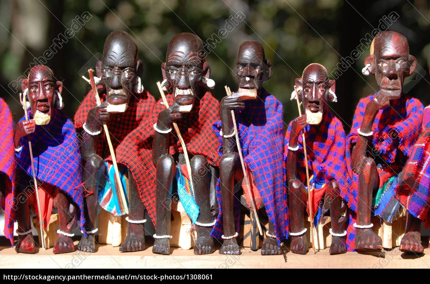 maasai, figures, on, local, market - 1308061