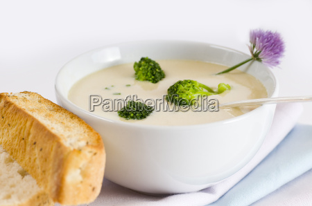 broccoli, cream, soup - 1318007