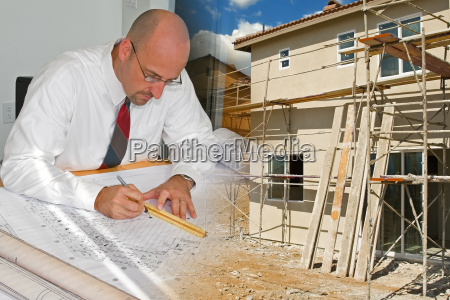 architect, and, construction, montage - 1328369