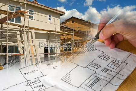 architect, and, construction, montage - 1329581
