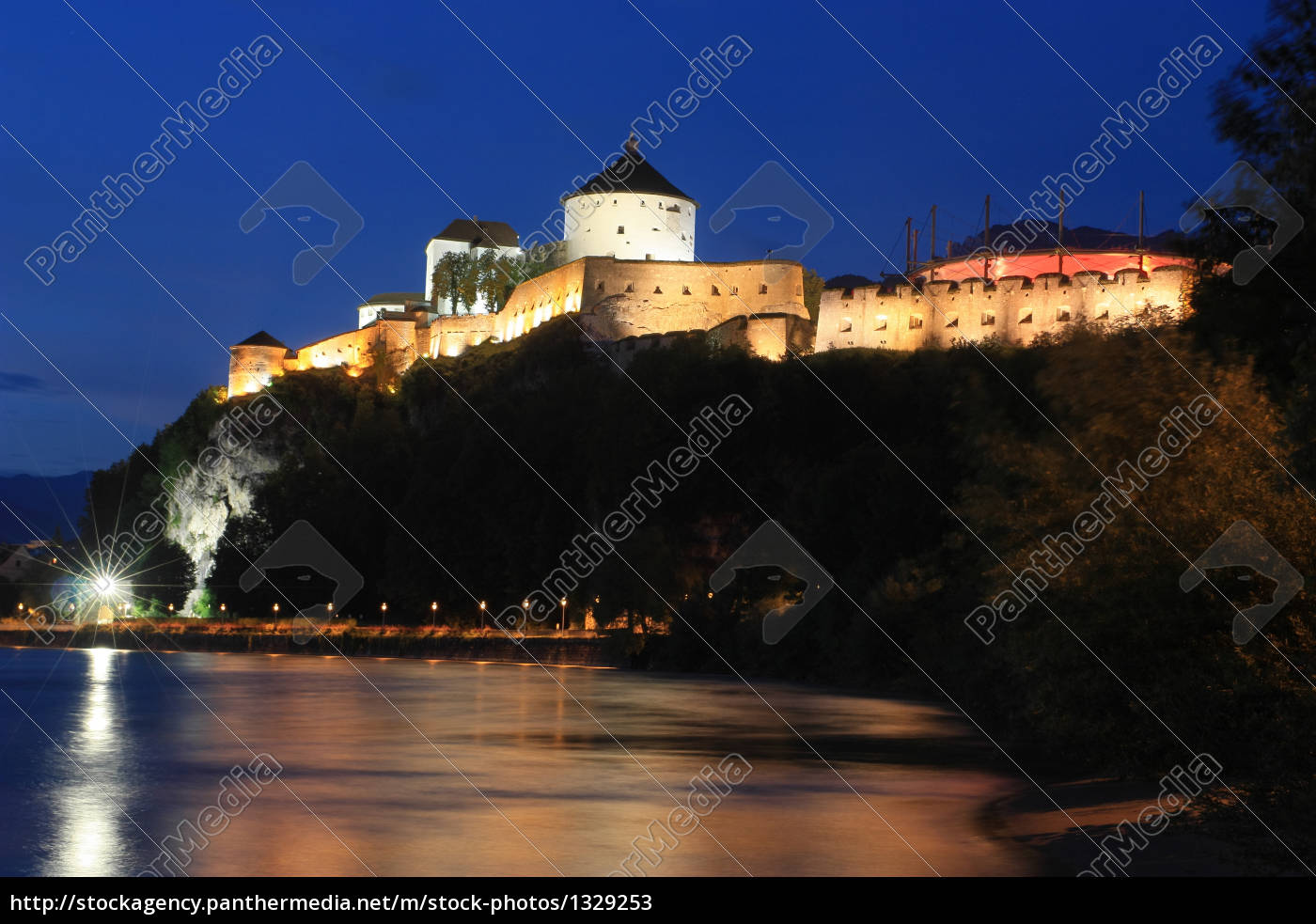 fortress, kufstein, at, night - 1329253