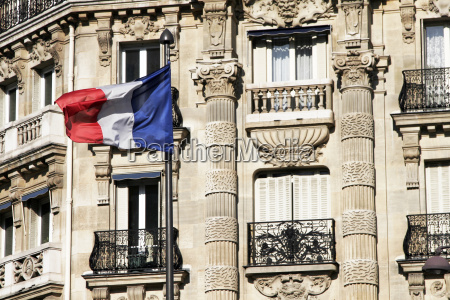 french, flag, -, paris, building - 1329371