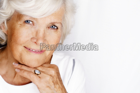 charming senior smiling relaxed