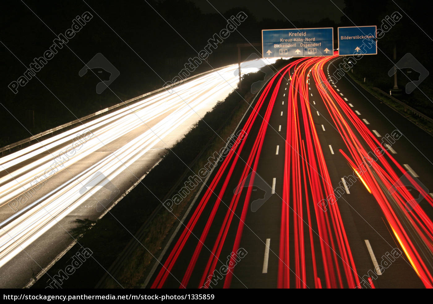 cologne, motorway, at, night - 1335859