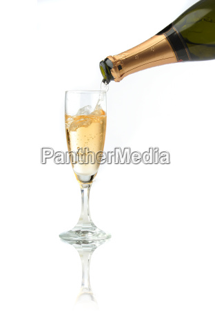 pouring, a, champagne, flute - 1338241