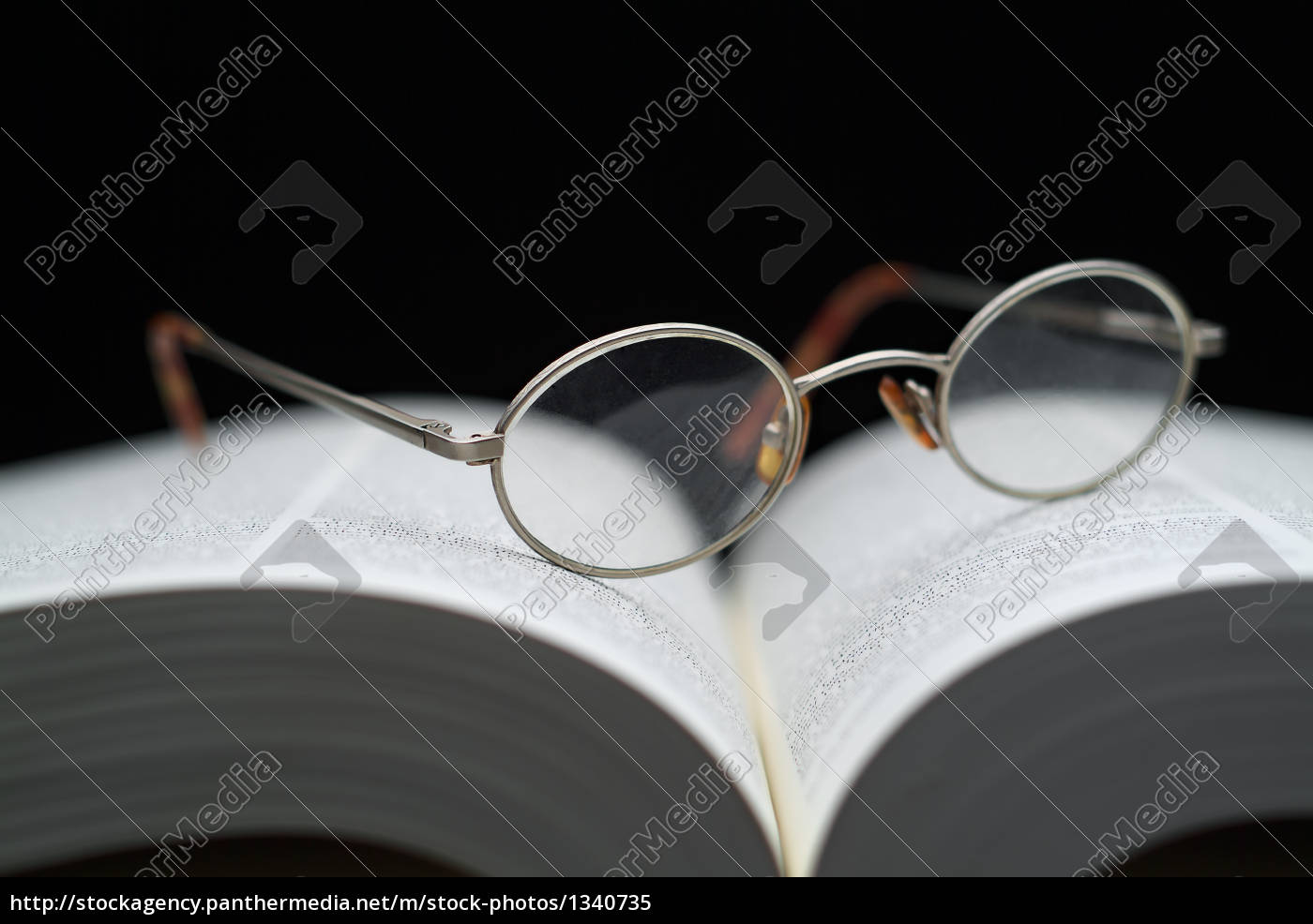 closeup, of, reading, glasses, on, large - 1340735