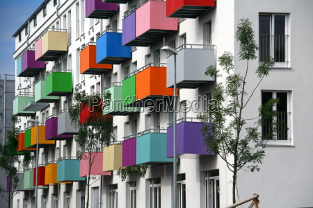 colored, balconies - 1343577