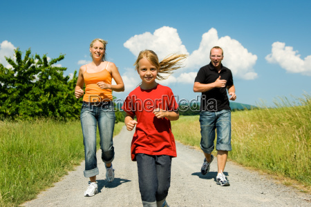 family, jogging - 1343389