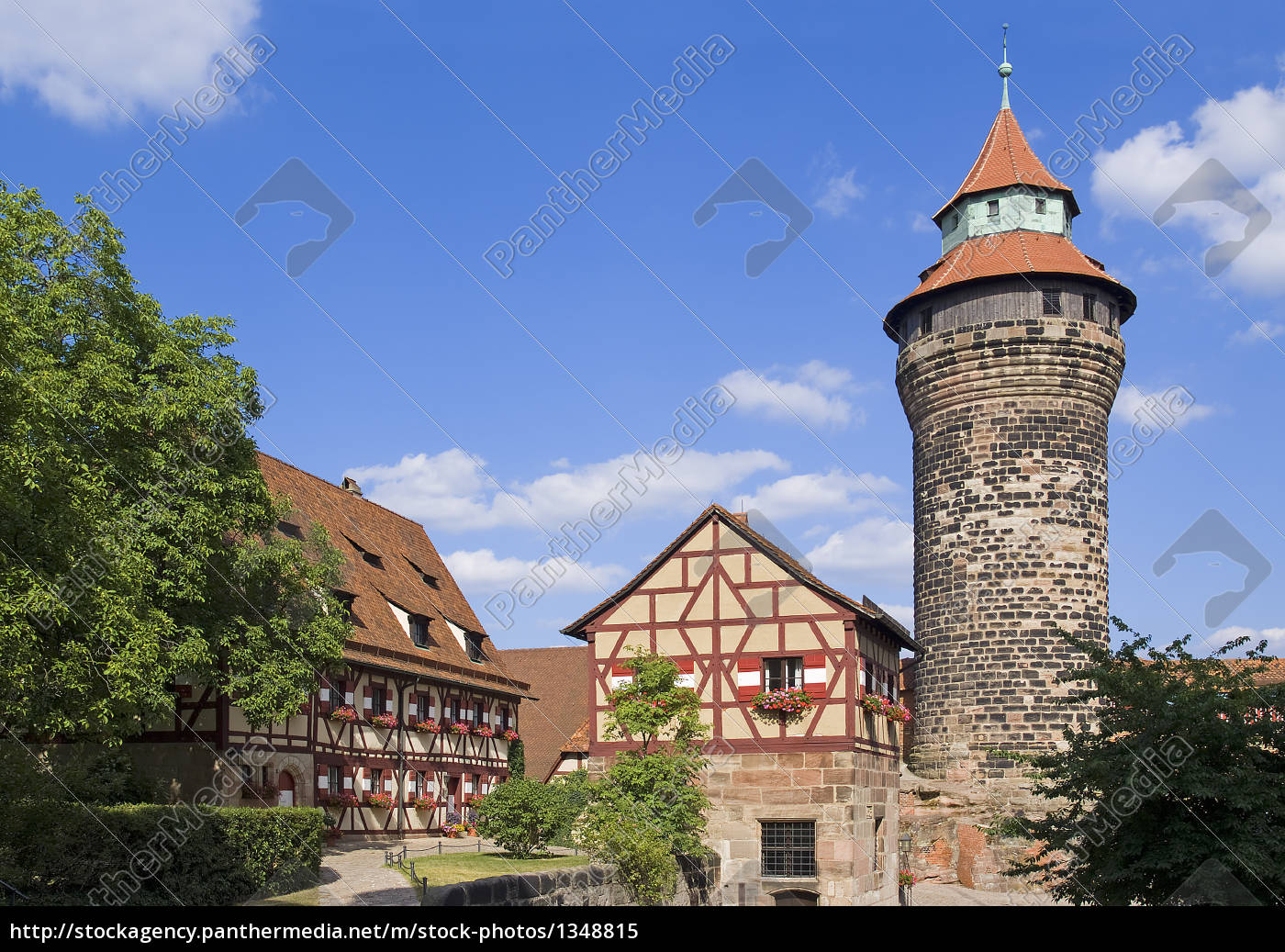 imperial, castle, in, nuremberg - 1348815