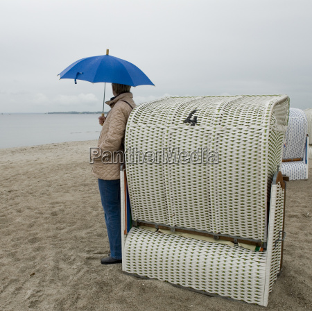 rainy weather on the beach