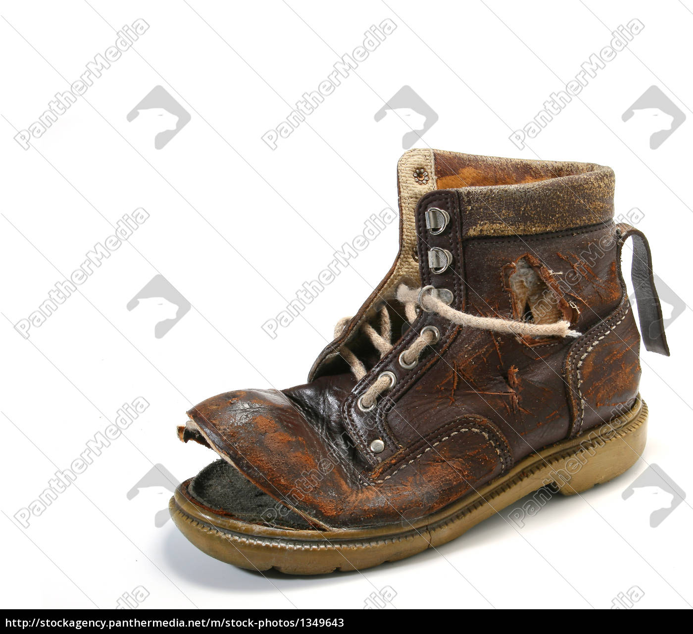 old, and, bronken, shoe. - 1349643