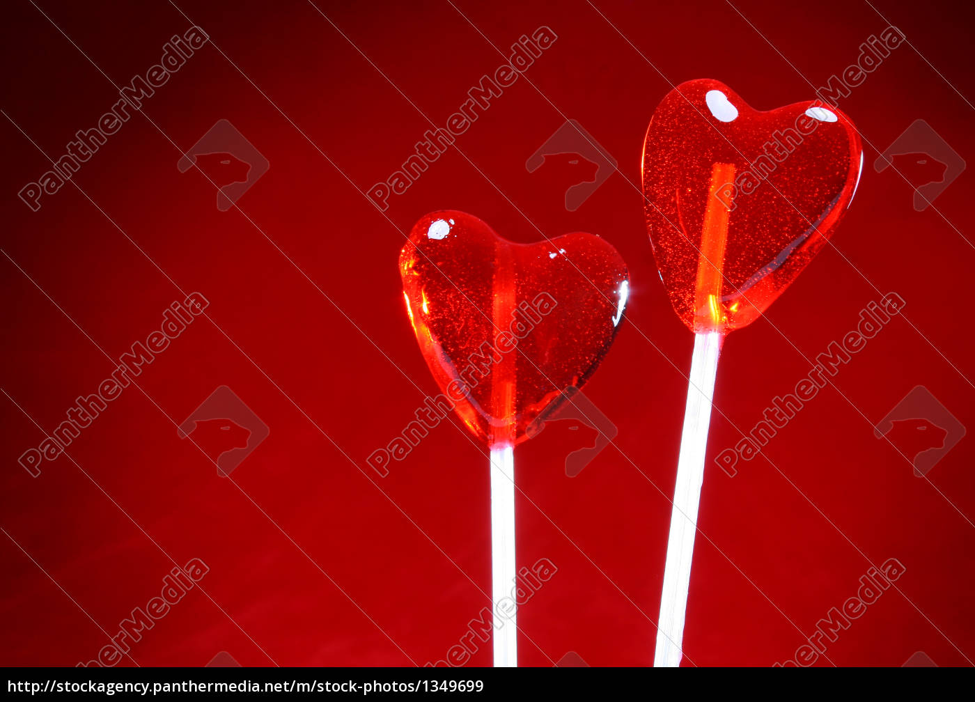 two, heart, shaped, lollipops, for, valentine - 1349699