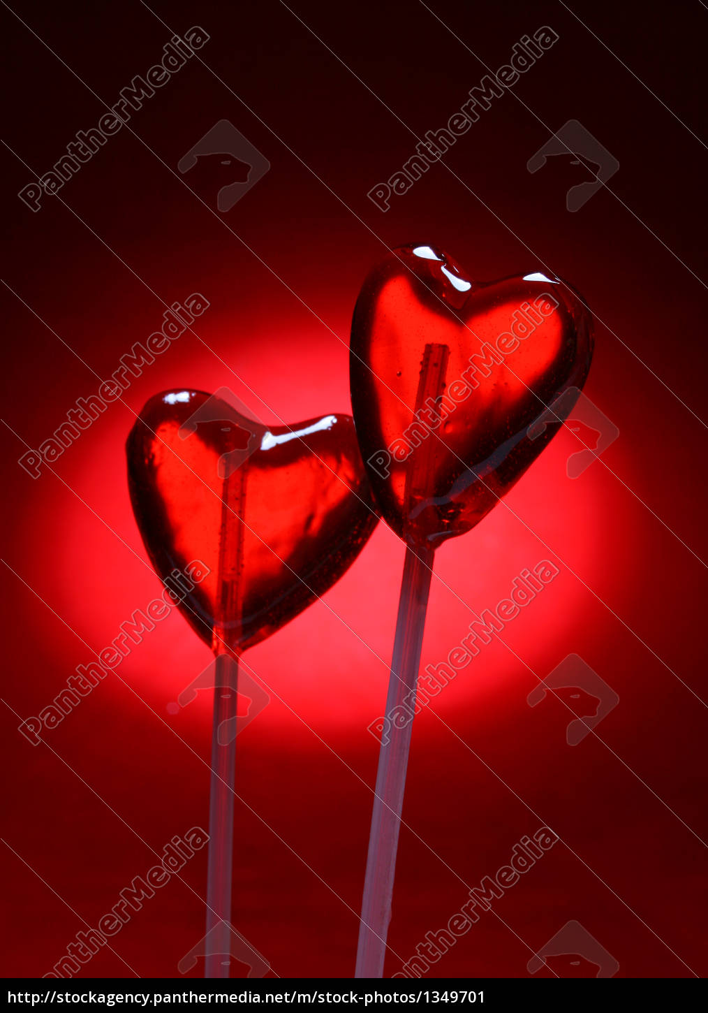 two, heart, shaped, lollipops, for, valentine - 1349701