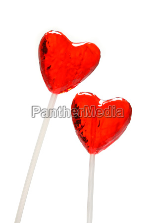 two, heart, shaped, lollipops, for, valentine - 1349769