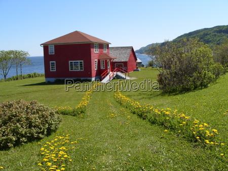 cottage, in, la, martre, canada - 1350909
