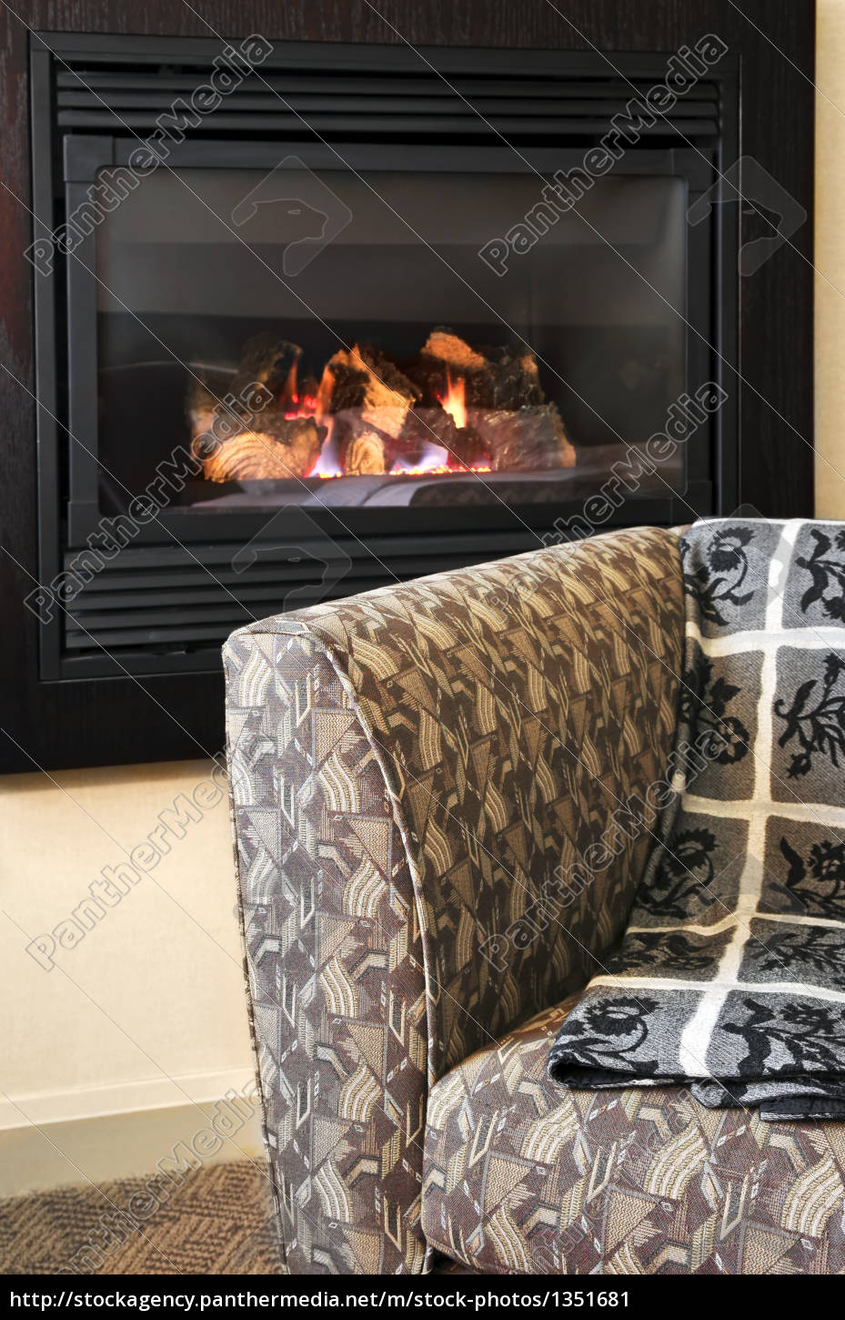 fireplace, and, armchair - 1351681
