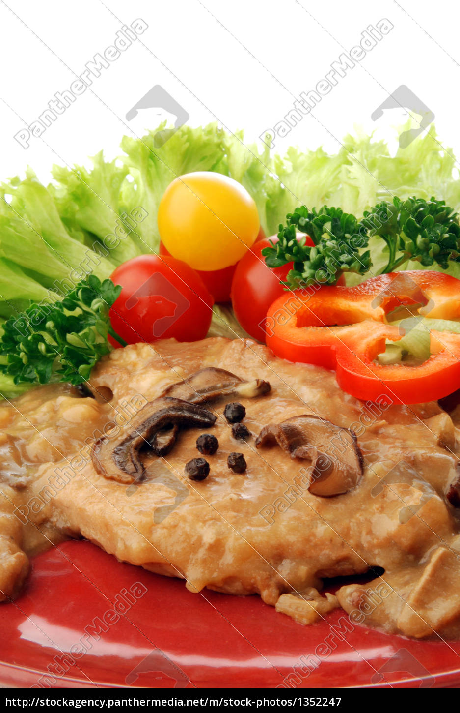 pork, with, mushroom, sauce - 1352247