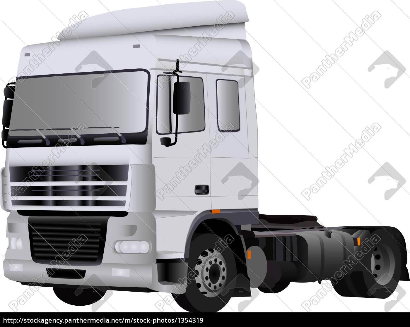 big, white, empty, truck - 1354319