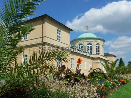 library pavilion at the berggarten