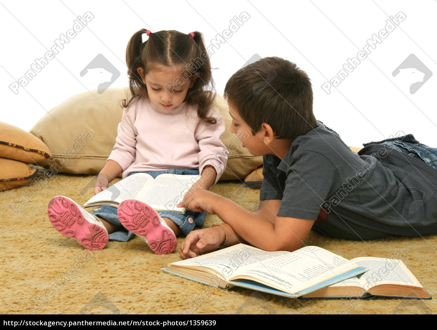 brother, and, sister, reading, books, - 1359639