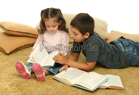 brother, and, sister, reading, books - 1359649