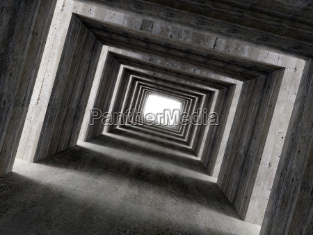 fine, image, 3d, of, concrete, tunnel - 1359363