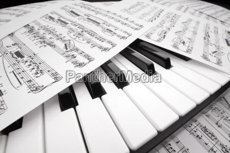 piano, and, sheet, music - 1360557
