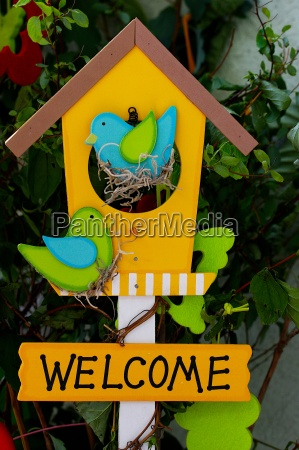 welcome, sign, with, birds - 1360043