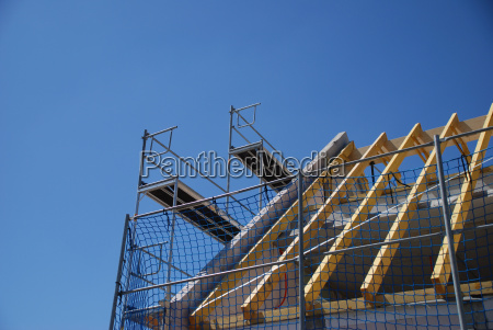 dachbau, with, scaffolding - 1363833