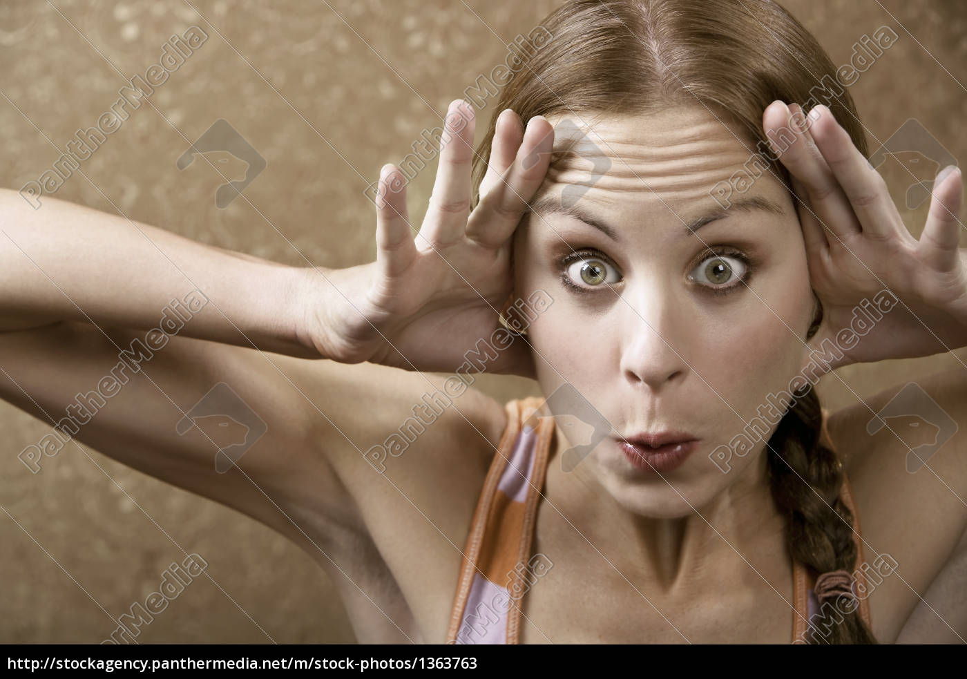 woman, making, a, funny, face - 1363763