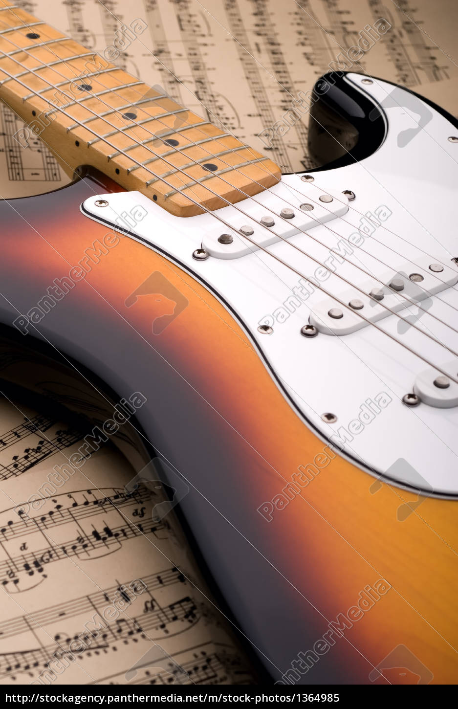 electric, guitar, and, sheet, music - 1364985