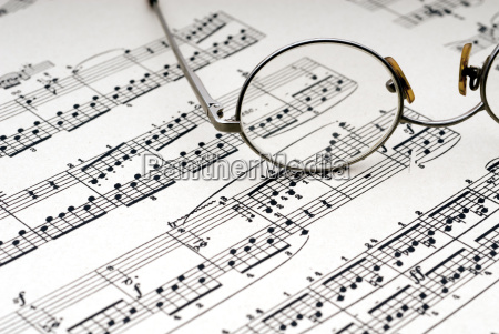 reading, glasses, on, sheet, music - 1364999