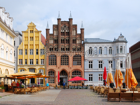 building in the hansestadt stralsund