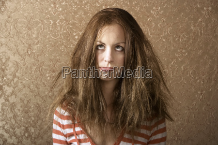 young, woman, with, messy, hair - 1365091