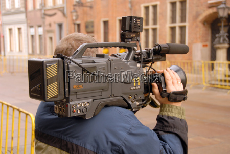 cameraman, in, action - 1368167