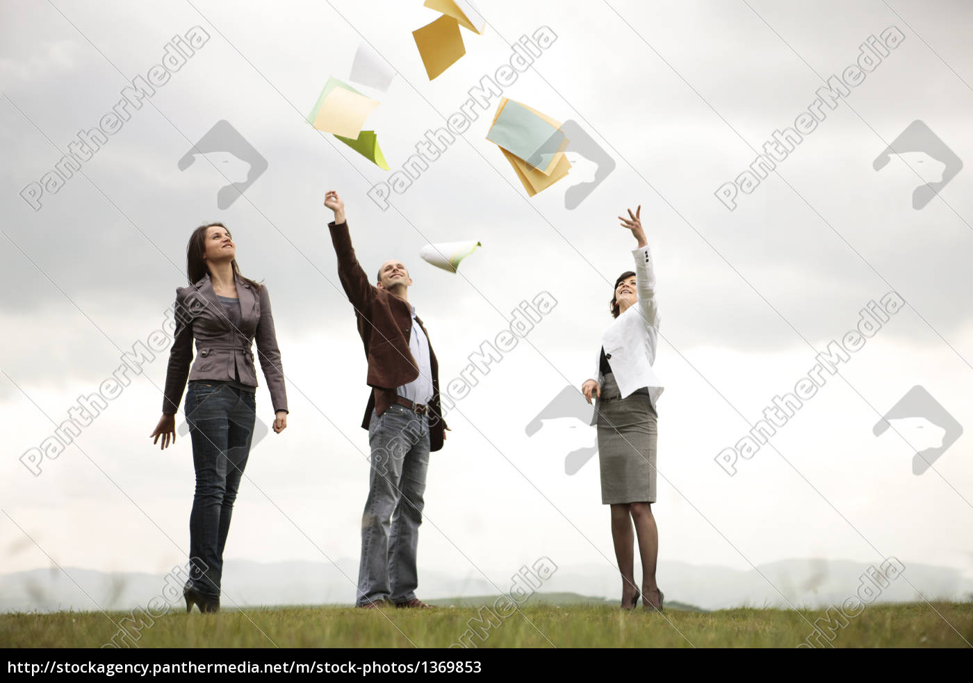 businessteam, shouting, their, victory, to, t - 1369853