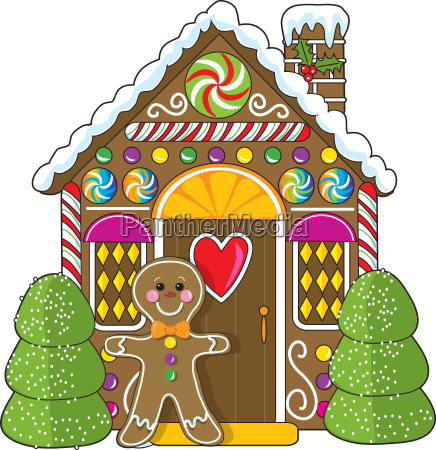 gingerbread, house, and, man - 1370111