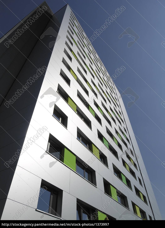 facade, skyscraper, metallic, silver - 1373997