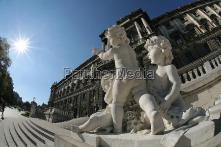 vienna, hofburg, angel, statues - 1374093