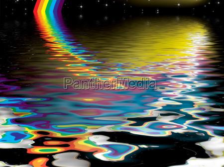 rainbow, reflect - 1375693