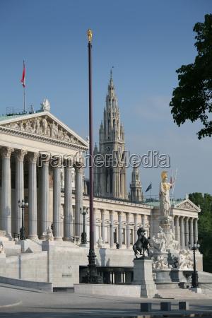 parliament, and, city, hall, vienna - 1381309