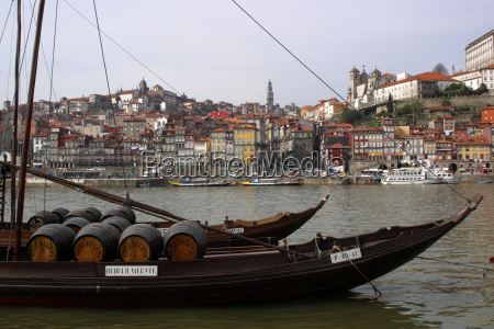 port wine boats on the douro