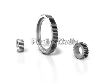 gear metal silver